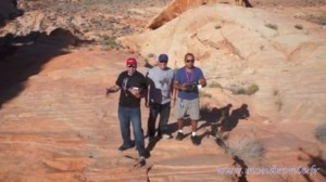 dronie dans le desert